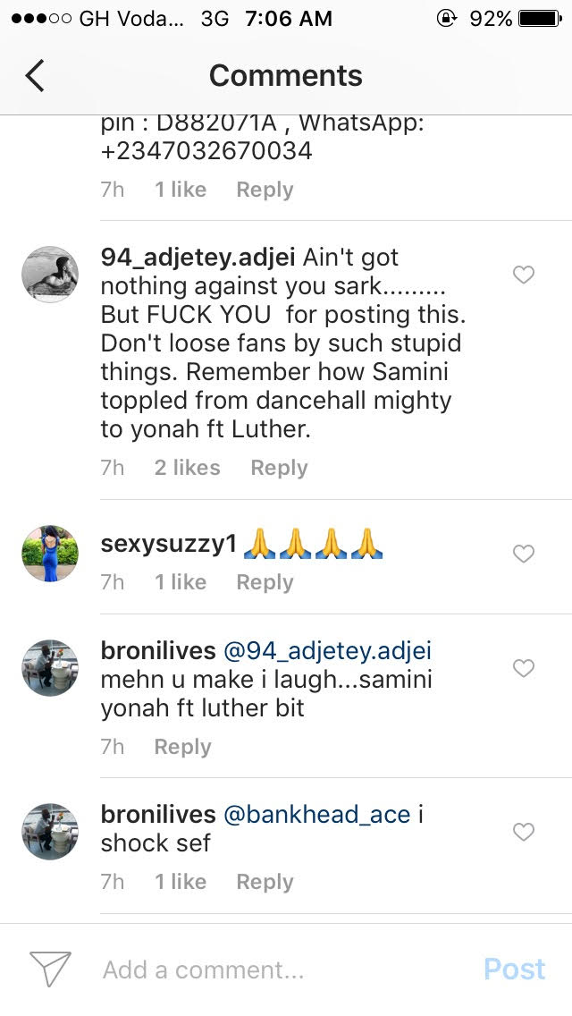 Sarkodie Addresses Followers After Being Criticized For an Appeal