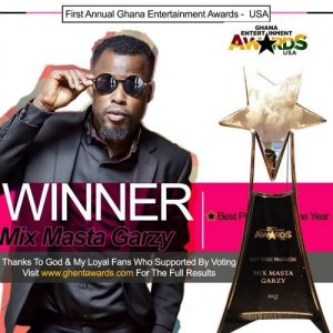 Mix Masta Garzy Wins Producer Of The Year at Ghana Entertainment Awards USA