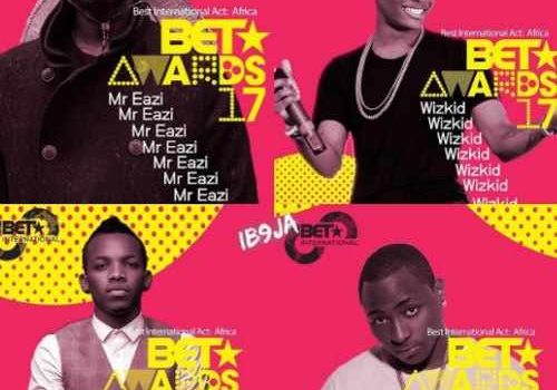 Stonebwoy, Mr. Eazi, Wizkid, Davido Nominated for BET Awards 2017