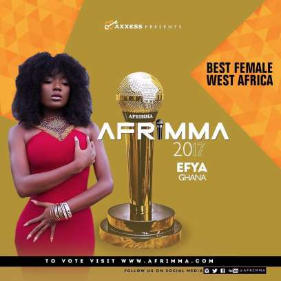 Shatta Wale, Stonebwoy, Medikal, Efya & others nominated for AFRIMMA 2017 efya