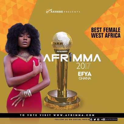 Shatta Wale, Stonebwoy, Medikal, Efya & others nominated for AFRIMMA 2017 efya