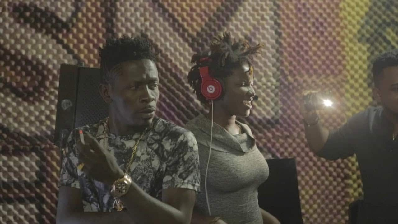VIDEO: Shatta Wale And Ebony Recording Session