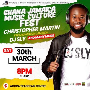 DJ Sly and Christopher Martin announced to headline Ghana Jamaica culture music festival in Accra.