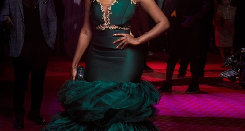 Wendy Shay in beautiful green dress at vgma