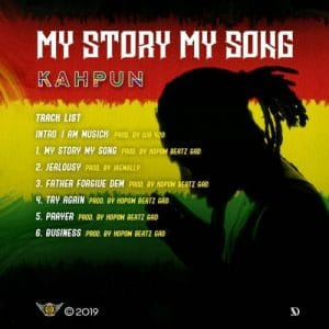 "Kahpun takes 2 weeks to record his first EP ""My Story My Song"", drops June 7th"