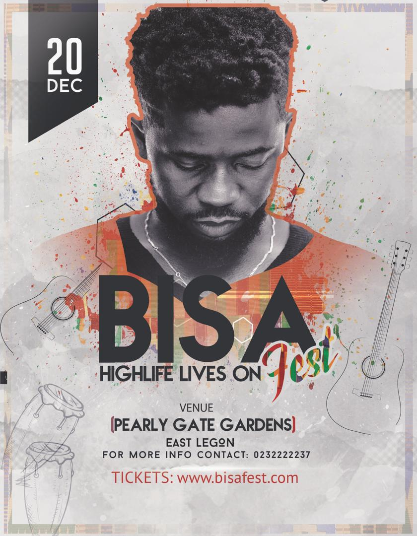 Bisa Kdei confirms BisaFest 2019 on December 20th
