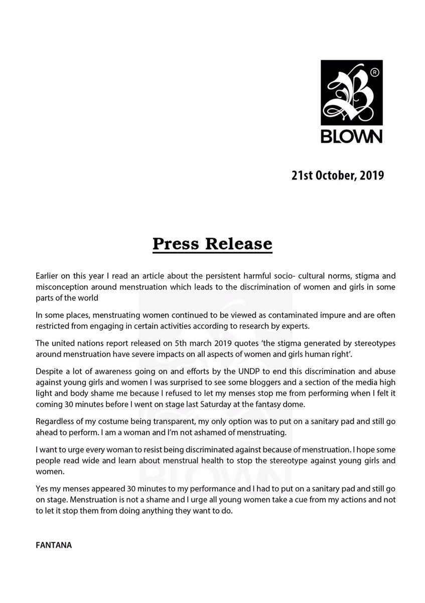 Fantana Press Release