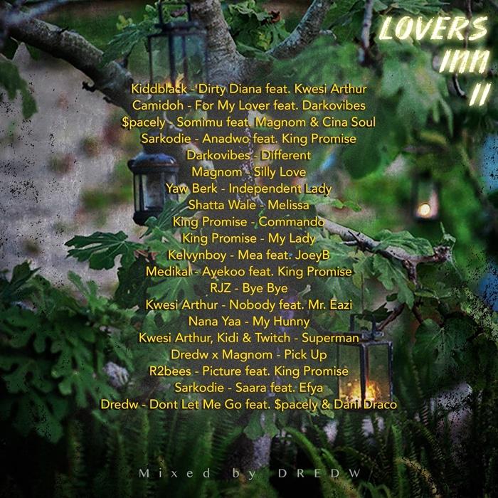 lovers inn - dredw - tracklist