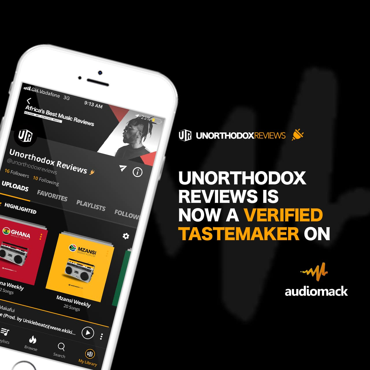 Ghanaian Online Editorial 'Unorthodox Reviews' Become Verified Tastemakers On Audiomack