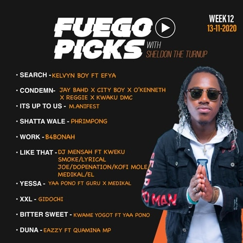 Sheldon The Turn Up – Fuego Picks Week 12
