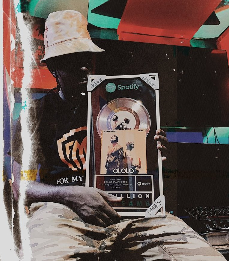 iPappi earns Spotify plaque for 1 million streams with Stonebwoy's 'Ololo'
